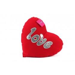 Süet Kalpli Yastık 50cm