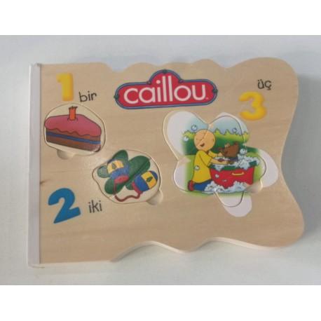 Caillou Ahşap YapBoz Kitabı