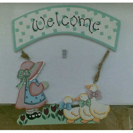 Welcome Yazısı (Kız çocuğu ve Ördekli)