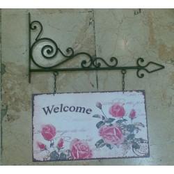 Welcome Yazısı (Çiçekli)
