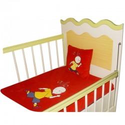 Caillou Battaniye & Yastık (Kırmızı)