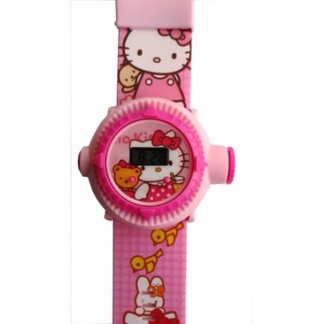 Hello Kitty Projeksiyonlu Kol Saati