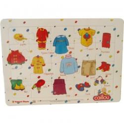 Caillou Karton Puzzle -1 (Kıyafetler)