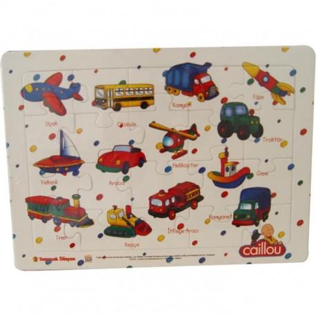 Caillou Karton Puzzle -3 (Taşıtlar)