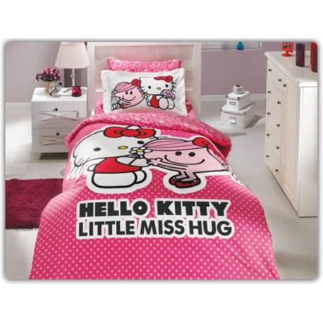 Hello Kitty Nevresim Takımı (Pembe)
