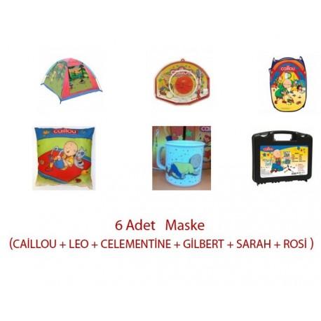 oyun çadırı+yastık+6adet maske+porselen kupa+tamir seti+oyuncak sepeti+basket potası