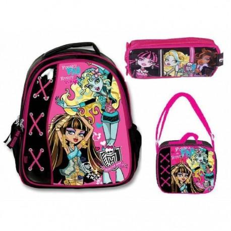 Monster High Okul Çanta Seti 3