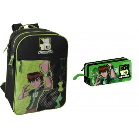 Ben 10 Benten Okul Çantası ve Kalemlik den oluşan okul çantası seti