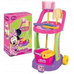 Minnie Mouse Oyuncak Temizlik Arabası Vileda Seti