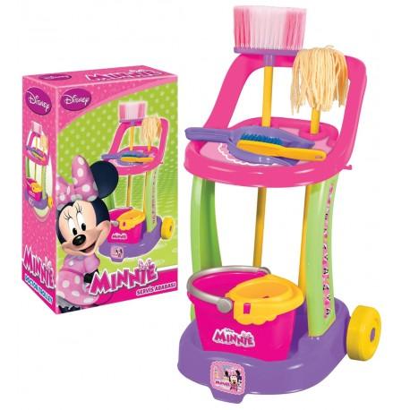 Minnie Mouse Oyuncak Temizlik Arabası Vileda Seti 01971