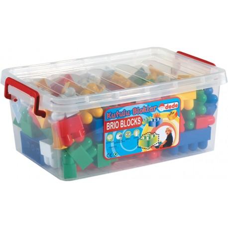 Eğitici Oyuncak Lego Kutulu 72 Parça Blok Seti