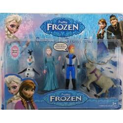 Frozen Karlar Ülkesi 4'lü Figür  Seti 2