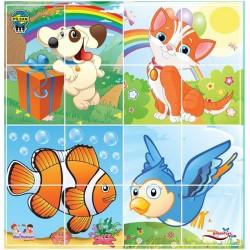 Pilsan Sevimli Hayvanlar 4X4 Puzzle