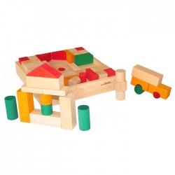 97 Parça Arabalı Ahşap Blok (renkli)