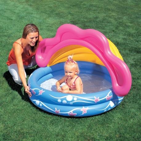 Bestway 2 Halkalı Yarım Güneş Korumalı Çocuk Havuzu 51098B