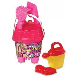 Barbie Aksesuarlı Küçük Kale Kova Seti