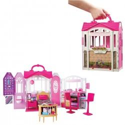 Barbie Renkli Portatif Ev