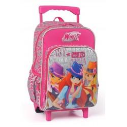 Winx Çekçek Okul Çantası Tekerlekli Çanta