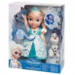 Frozen Şarkı Söyleyen Elsa Bebek 35 cm
