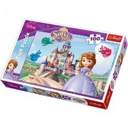 Trefl 100 Parça Çocuk Yapboz Disney Sofia Eğitici Puzzle