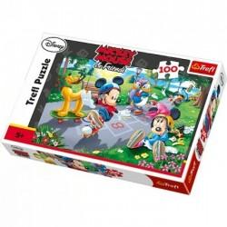 Trefl 100 Parça Çocuk Yapboz Mickey Mouse Eğitici Puzzle