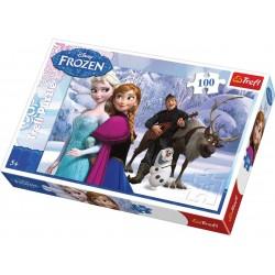 Trefl 100 Parça Çocuk Yapboz Frozen Eğitici Puzzle
