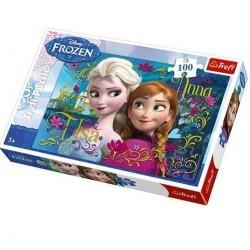 Trefl 100 Parça Çocuk Yapboz Frozen Eğitici Puzzle 2
