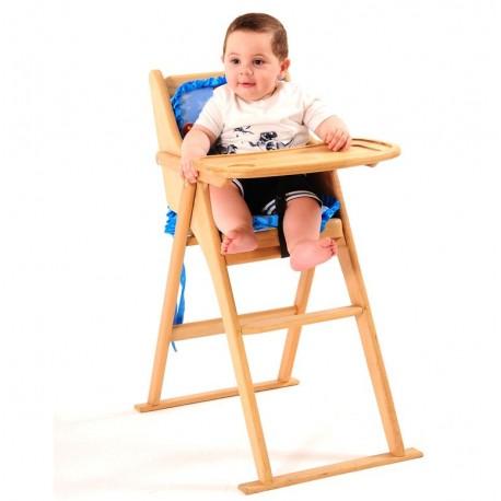 Ahşap Katlanabilir Mama Sandalyesi